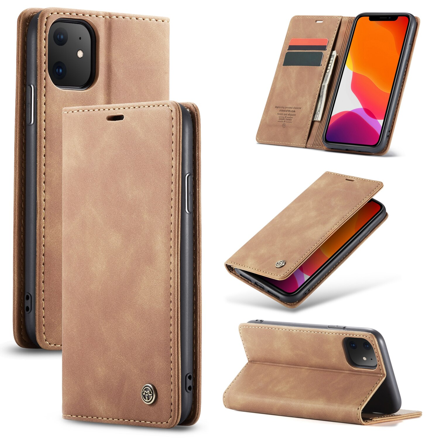 Leather Wallet Phone Case for iPhone 11 / 11 Pro / 11 Pro Max